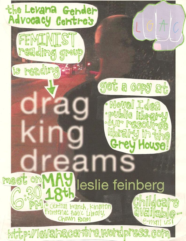 Event poster for 'Levana Feminist Reading Group Reads Darg King Dreams'.