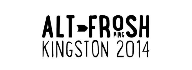 Poster for 'Alt-Frosh OPIRG Kingston 2014'. Description below.