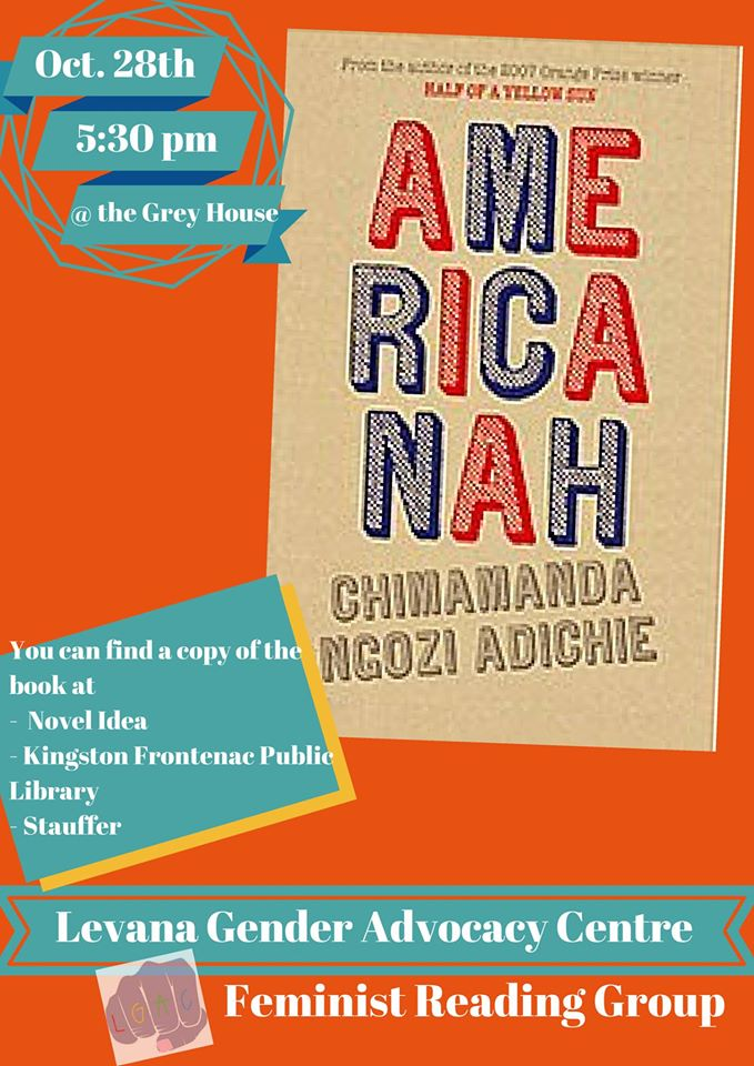 Poster for 'Feminist Reading Group reads Americana'. Description below.