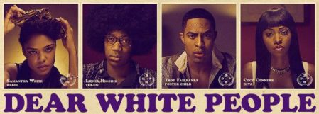 Poster for 'Screening of Dear White People'. Description below.
