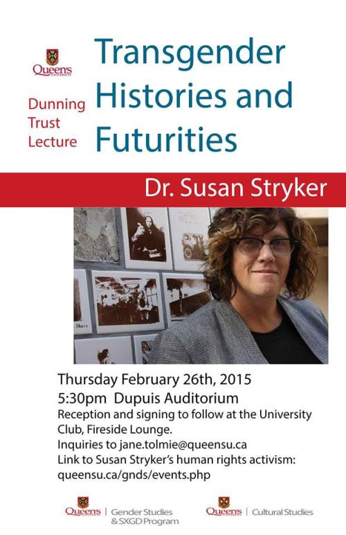 Poster for event 'Transgender Histories and Futurities'. Description below.