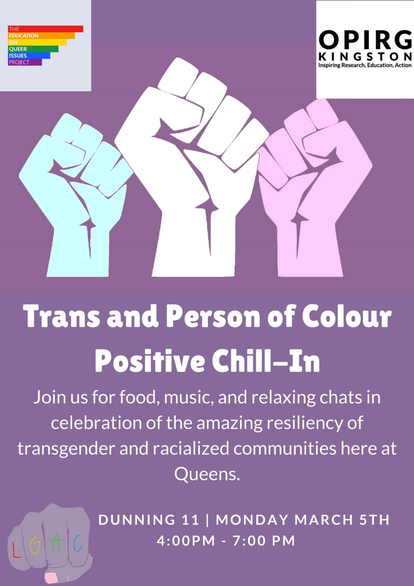 trans and people of colour positive chill in levana gender